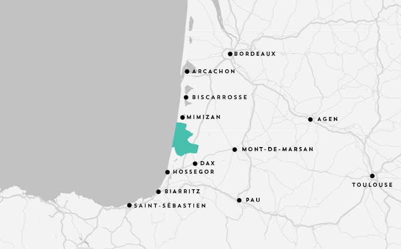 Map Cote Landes Nature