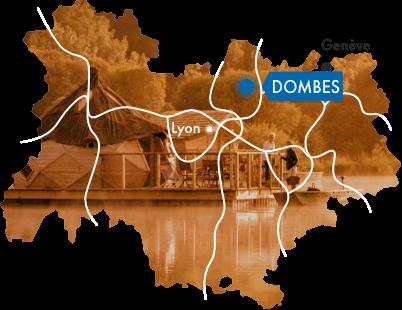 Carte de la région Auvergne Rhônes-Alpes
