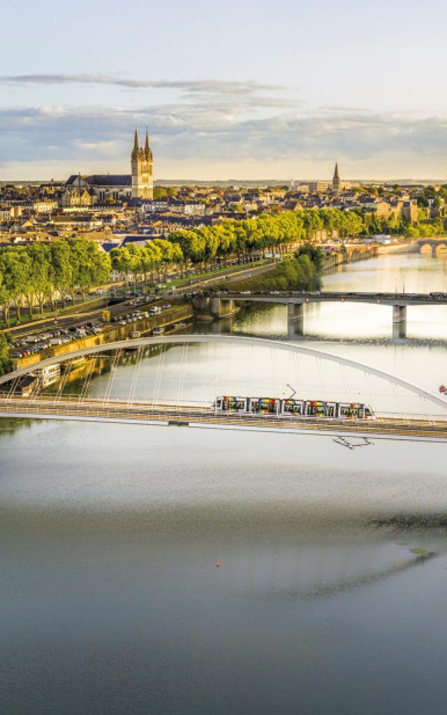 vue panoramique pont confluences angers