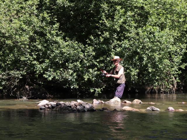 Pêche à Saint-Léonard-des-Bois