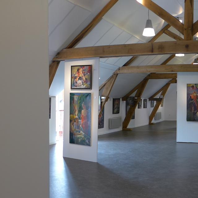 Exposition de peintures de Philippe Gautier en 2015 au Domaine du Gasseau