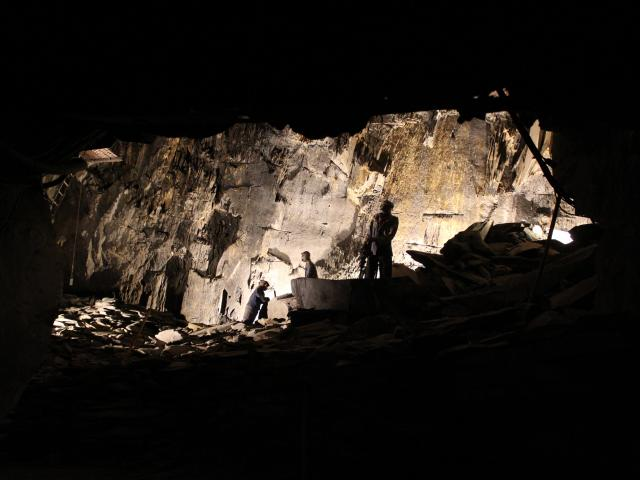 La Mine Bleue Chambre D'extraction De Schiste Ardoisier
