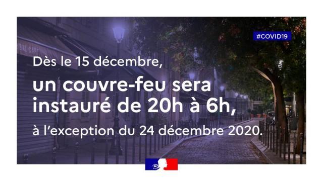 Déconfinement 15 Décembre 2020 Actus Covid 19
