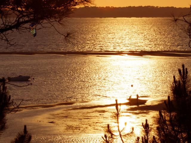 Coucher De Soleil Bassin