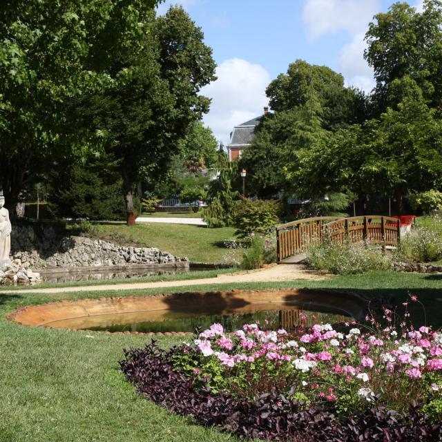 Fleurs Violettes Parc Mauresque