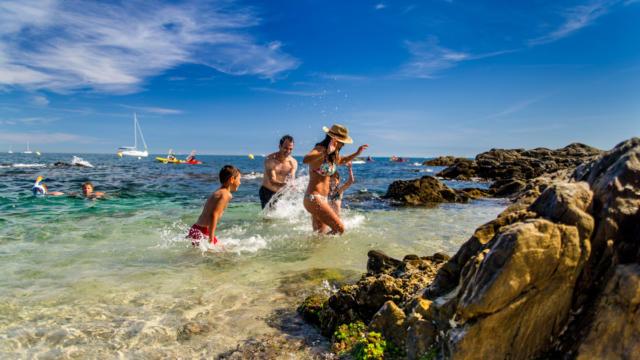 Baignade Famille Argeles Sur Mer