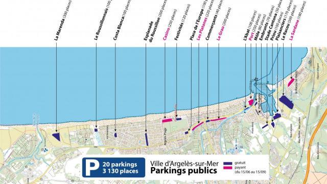 Plan Parkings Plage