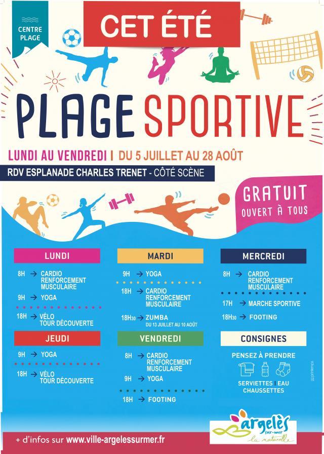Plage Sportive Argelessurmer 2021