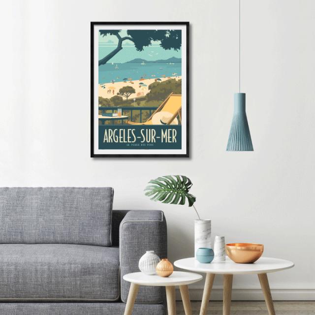 travel-poster-affiche-argeles-plage-des-pins-2.png