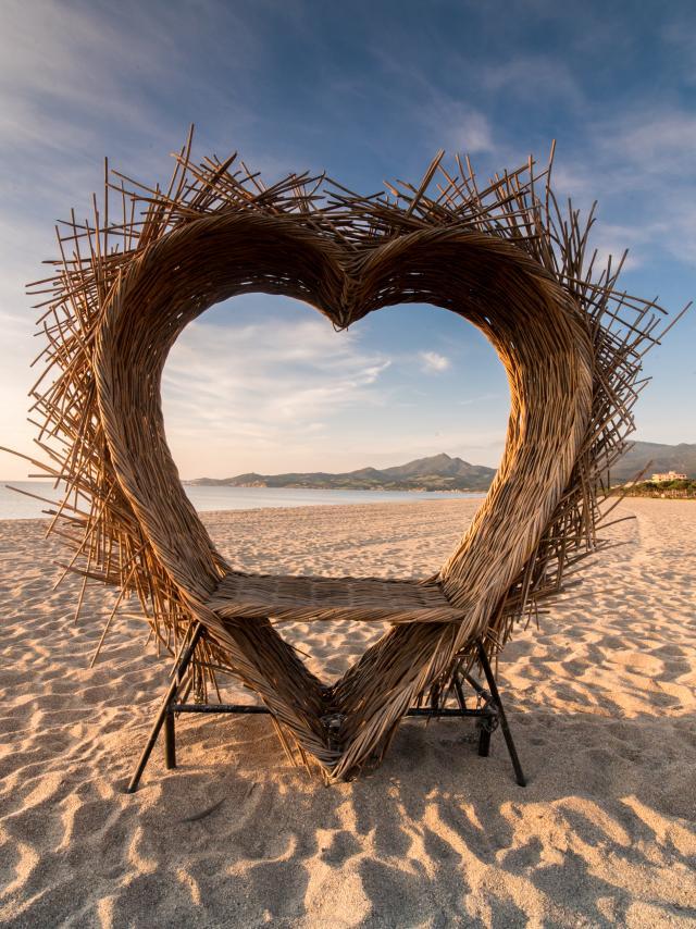 cœur plage