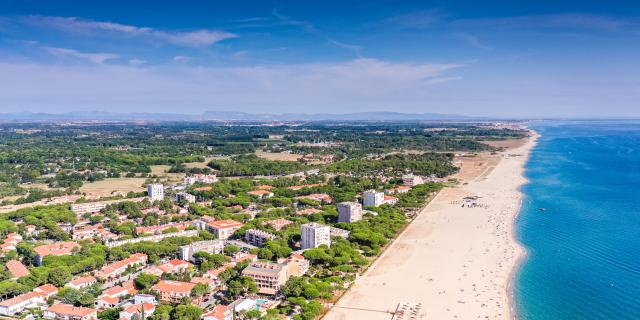 Argeles plage vue drone