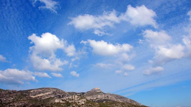 Panorama Ciel Bleu Massif De L'etoile Nature Oti Aubagne