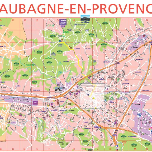 Plan Ville Aubagne