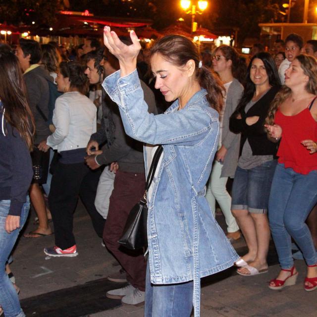 Spectateurs Danse Fete Soiree 14 Juillet Aubagne Oti Aubagne