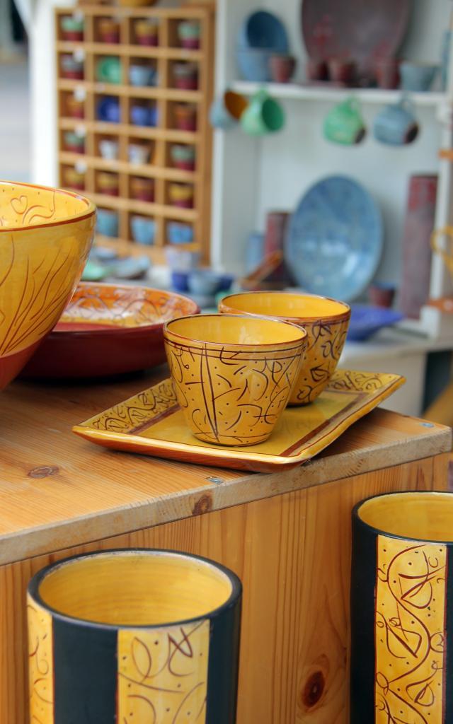 Tasses Pots Argile Ceramique Marche Ete Marouane Oti Aubagne