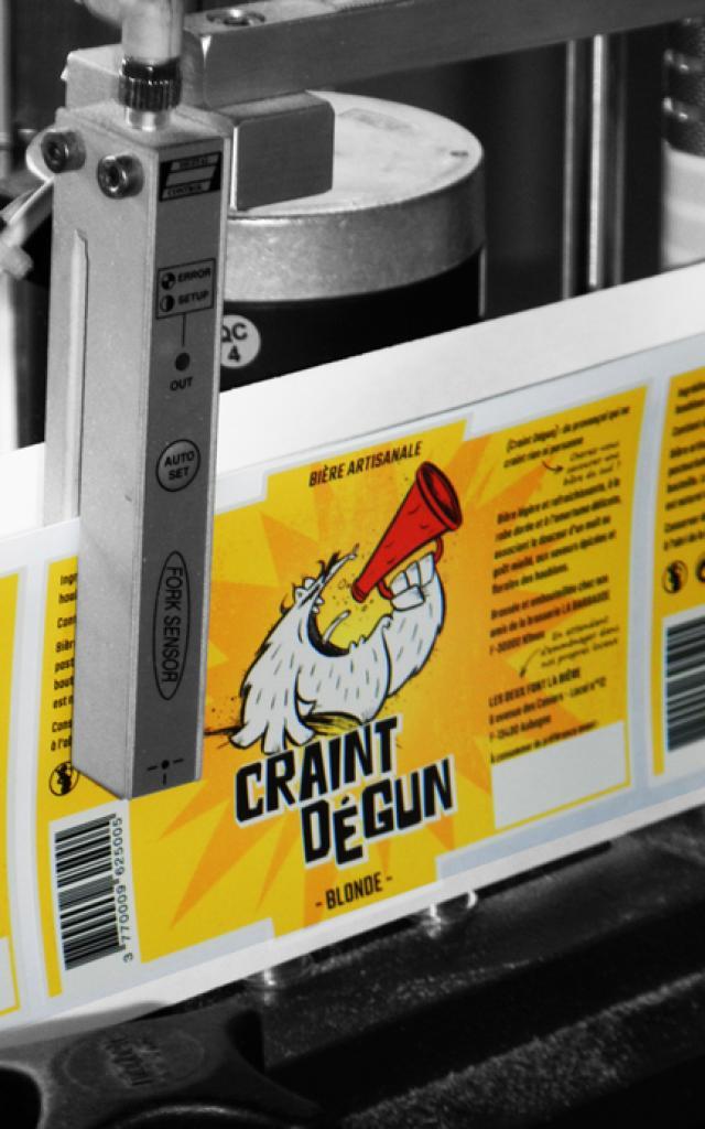 Les Deux Font la Bière étiqueteuse -brasserie - OTI_Aubagne