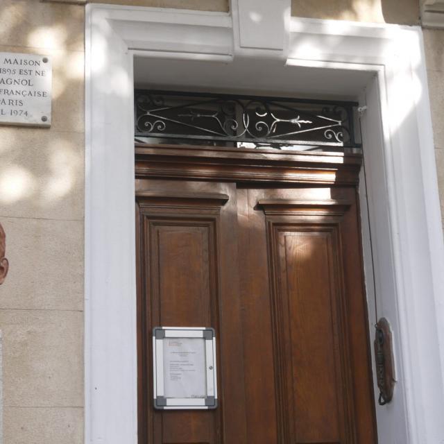 Buste et façade de la Maison natale de Marcel Pagnol - Aubagne