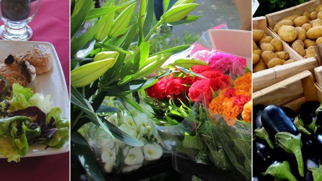 Restaurant Plat Fleurs Légumes Marche Aubagne Auriol