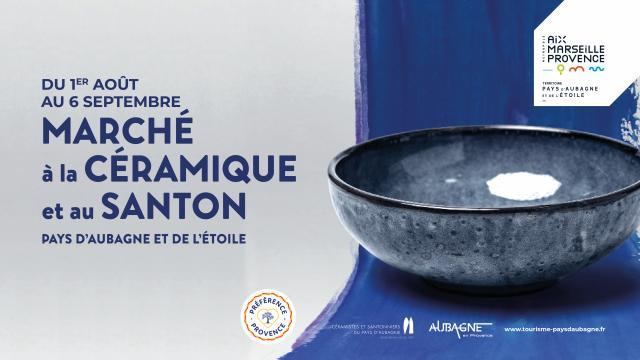Marché à la céramique et au santon-Aubagne-été 2020