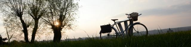 Vélo pré coucher de soleil