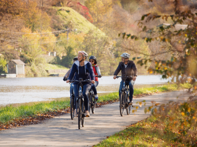 Vélo canal automne