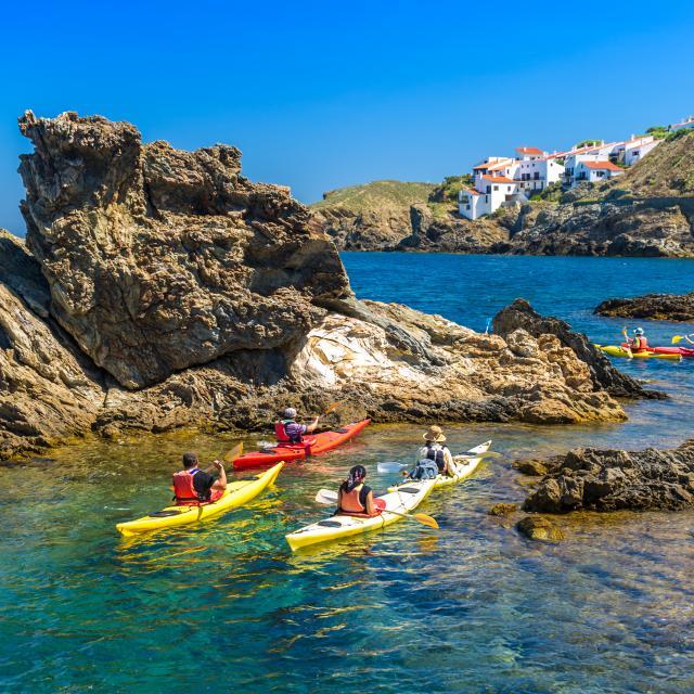 Banyuls sur mer dans les Pyrénées-Orientales vu de la mer