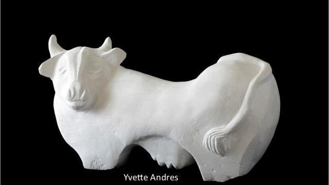 Sculpture Art Vache Andres