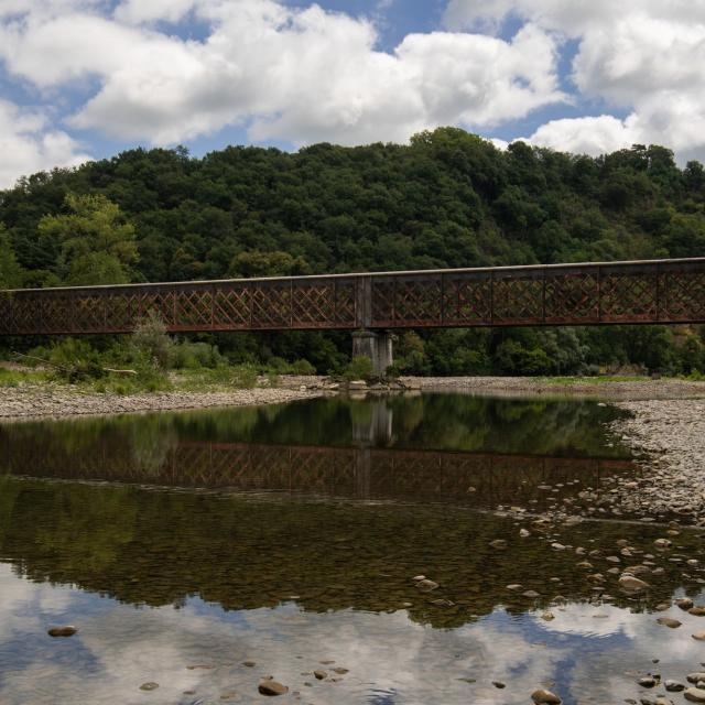 Pont de la Voie Verte entre Castagnède et Escos
