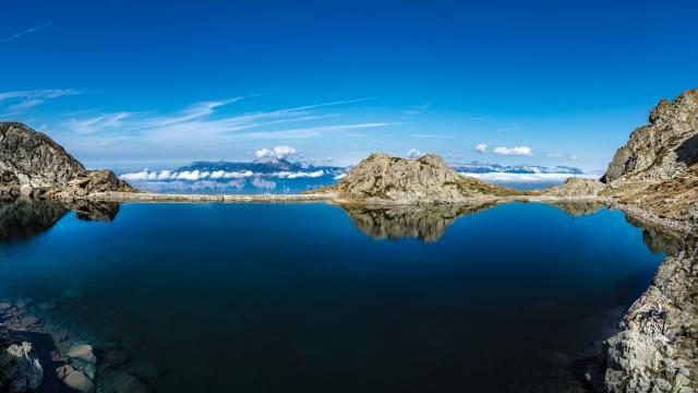 Lac Du Crozet Chaine De Belledonne Isere