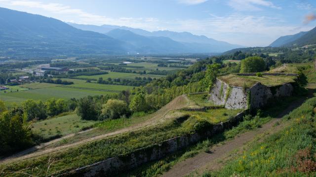 Vallée du Grésivaudan depuis le Fort Barraux