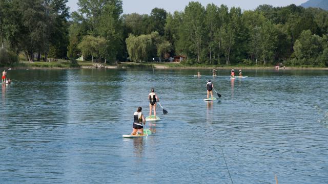 Paddle sur le lac de la Terrasse