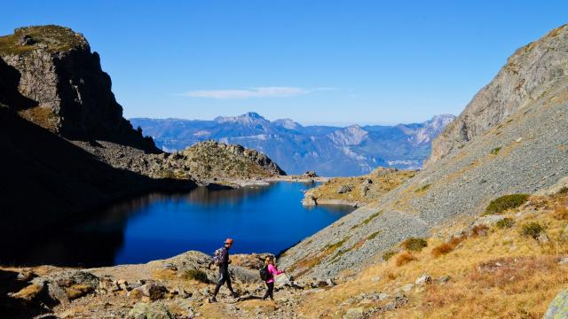 le lac du Crozet, avec la Chartreuse en arrière plan