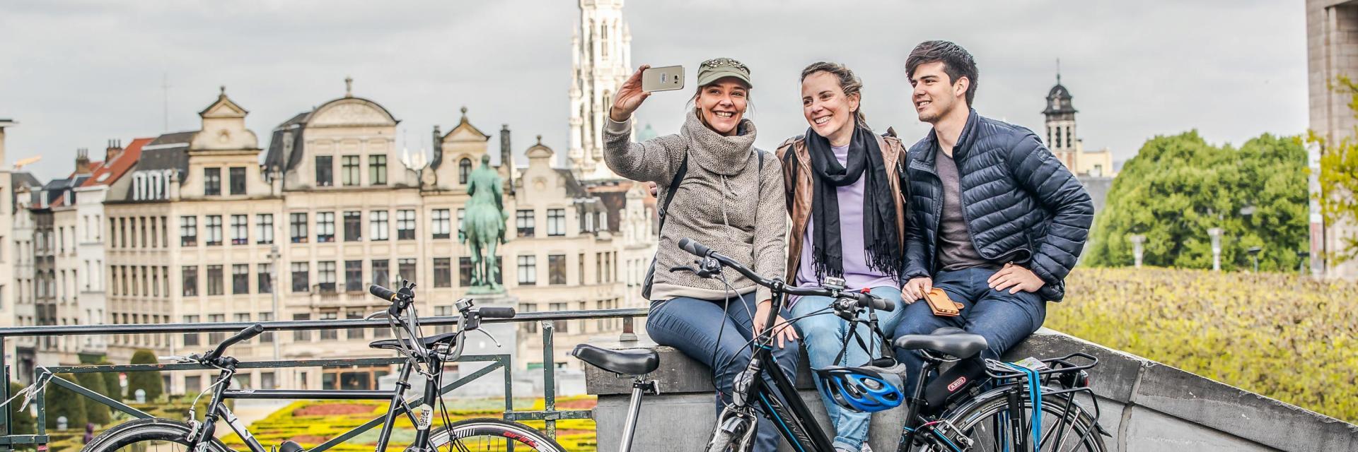 Mont des Arts - KunstbergSquare - Brussels Meeting Centrevélo - fiets - bike© visit.brussels - Eric Danhier - 2017
