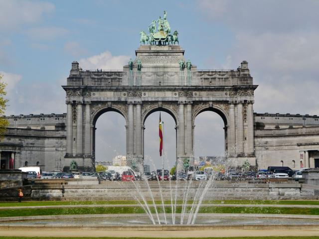 Bruxelles Parc Cinquantenaire Arc De Triomphe 7