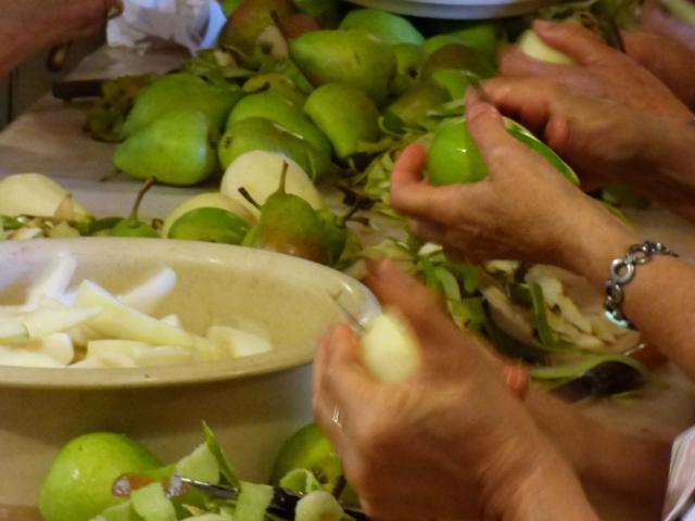 Epluchage de poires