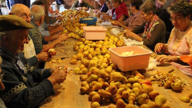 Epluchage de pommes