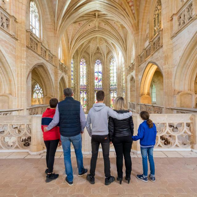 famille au Monastère Royal De Brou