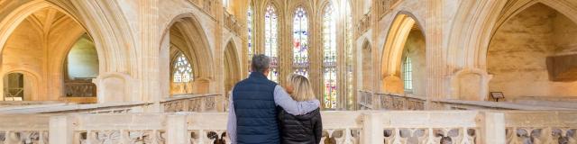 Couple sur le jubé du Monastère Royal De Brou