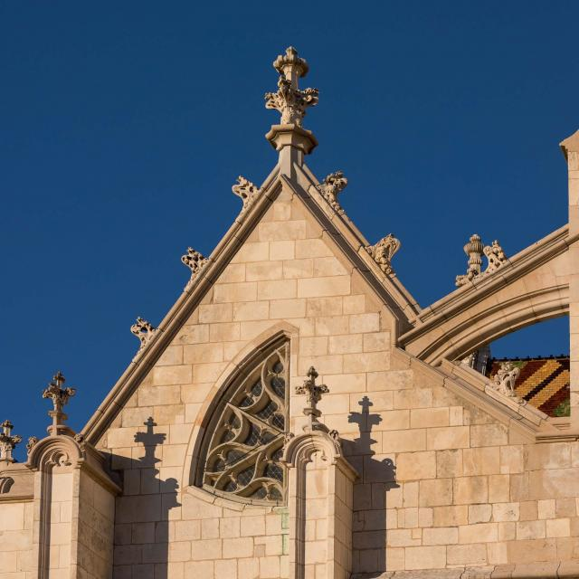 Détails de la façade du Monastère Royal De Brou