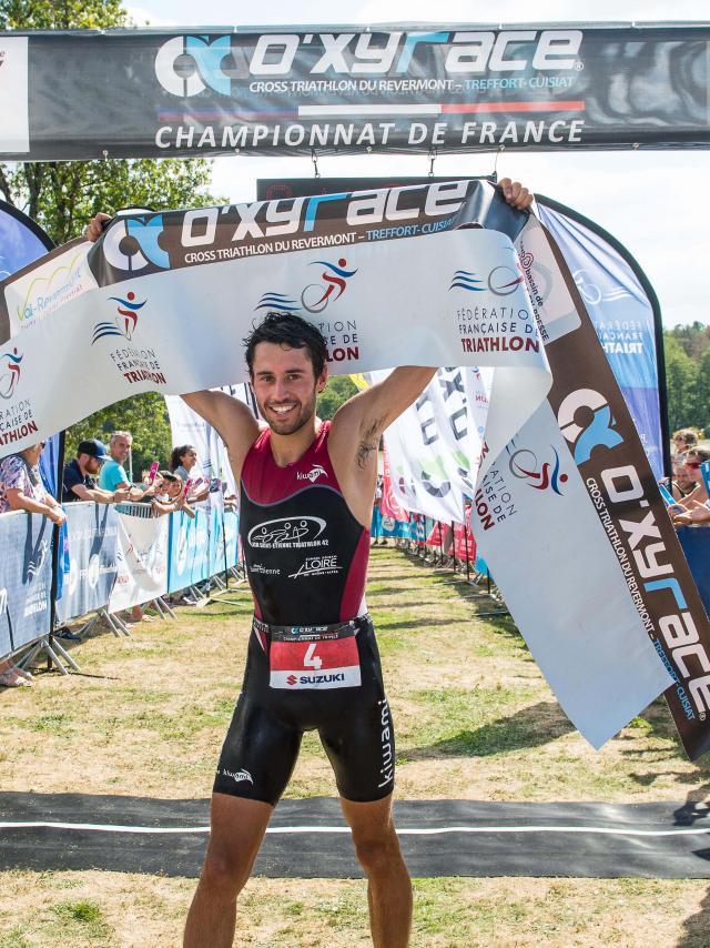 Oxyrace 2018 y compris championnat de France de triathlon, organisé par Frederic Pitrois à Treffort Cuisiat dans l'Ain, le 2 septembre 2018.