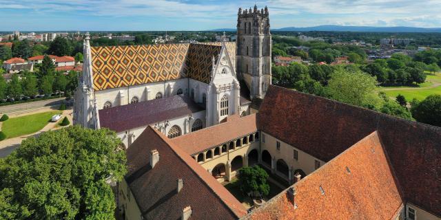 Vue Aérienne Monastère Royal De Brou Bourg En Bresse