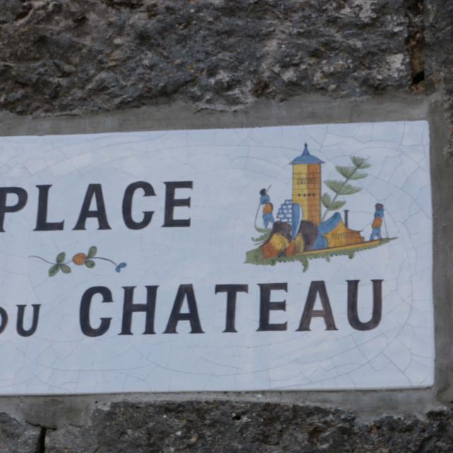 plaque de village