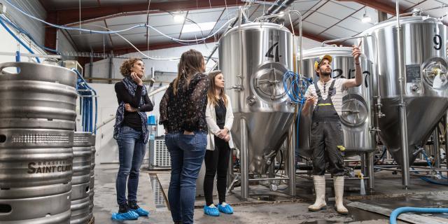 Entrepot de fabrication de bière