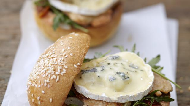 Burger au Bresse Bleu