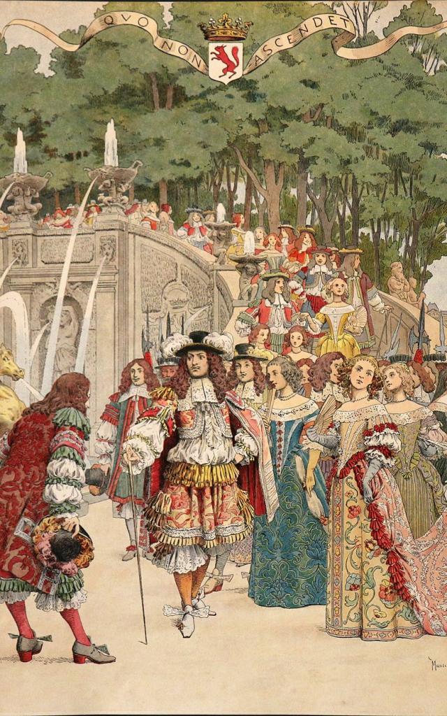 Maurice Leloir Le Roy Soleil Fouquet Recevant Le Roi à Vaux