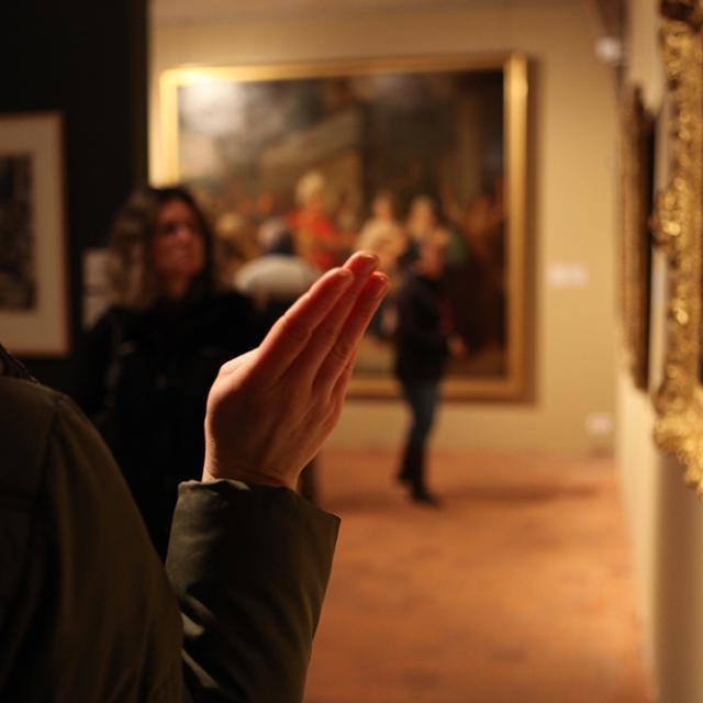Reportage visite pour personnes sourdes et malentendantes, Monastère Royal de Brou, Bourg en Bresse, Ain, janvier 2012