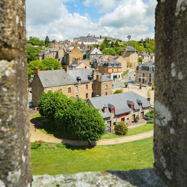 Depuis les remparts du château, Fougères
