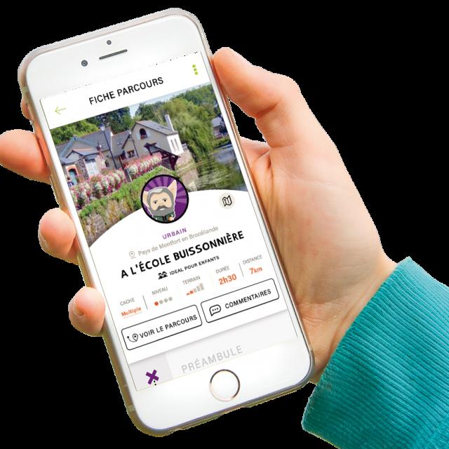 L'appli trésors de Haute Bretagne sur smartphone