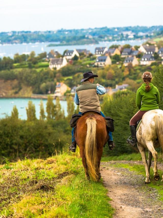 Balade à cheval, Saint-Suliac