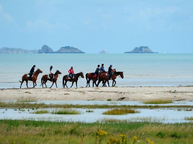 Horseback riding in the Bay of Mont-Saint-Michel